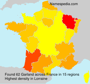 Surname Garland in France