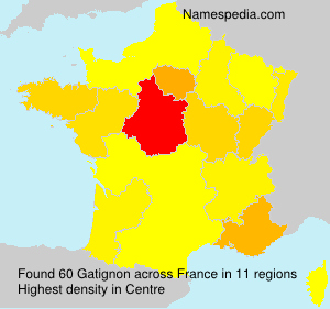Surname Gatignon in France