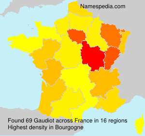 Surname Gaudiot in France