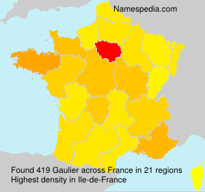 Surname Gaulier in France