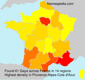 Surname Gaya in France