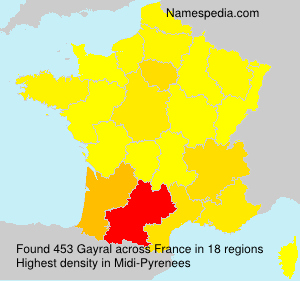 Surname Gayral in France