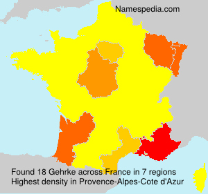Surname Gehrke in France