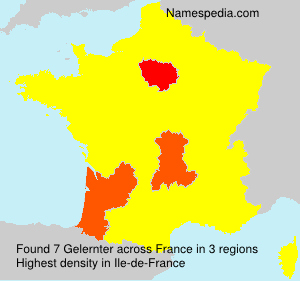 Surname Gelernter in France