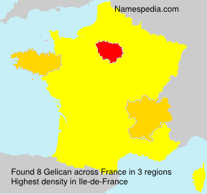 Surname Gelican in France