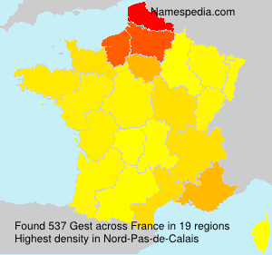Surname Gest in France