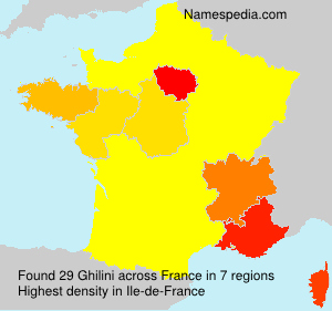 Surname Ghilini in France