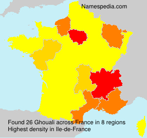 Surname Ghouali in France