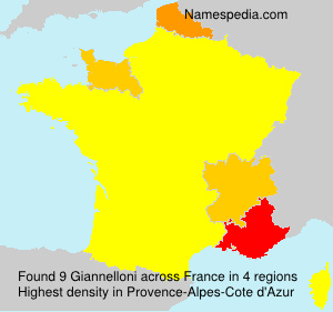Surname Giannelloni in France