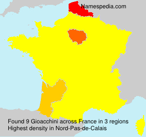 Surname Gioacchini in France