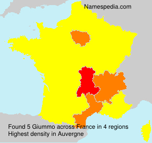 Surname Giummo in France