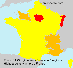 Surname Giurgiu in France