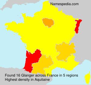 Surname Glanger in France