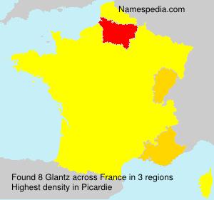 Surname Glantz in France
