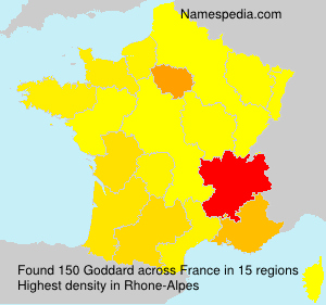 Surname Goddard in France