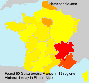 Surname Golaz in France