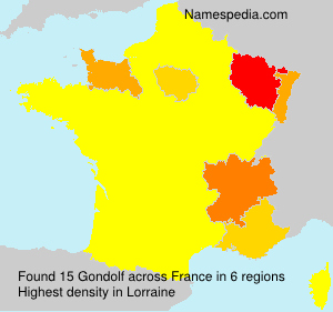 Surname Gondolf in France