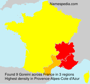 Surname Goreini in France