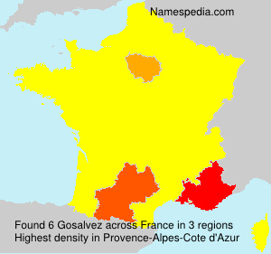 Surname Gosalvez in France