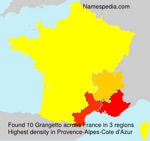Surname Grangetto in France