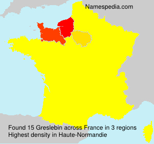 Surname Greslebin in France