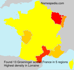 Surname Groeninger in France