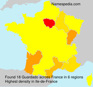 Surname Guardado in France