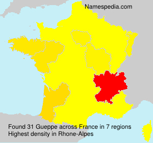 Surname Gueppe in France