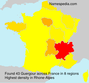 Surname Guergour in France