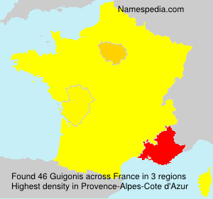Surname Guigonis in France