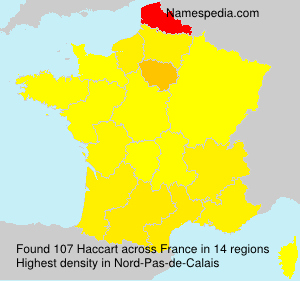 Surname Haccart in France