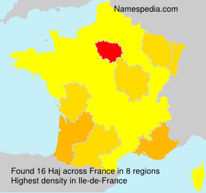 Surname Haj in France