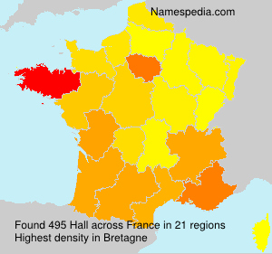 Surname Hall in France