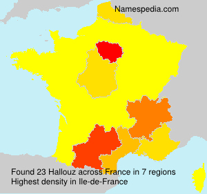 Surname Hallouz in France