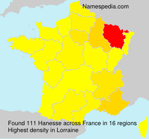 Surname Hanesse in France