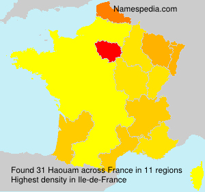 Surname Haouam in France