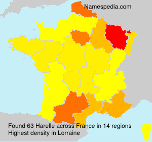 Surname Harelle in France