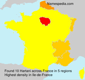 Surname Hartani in France