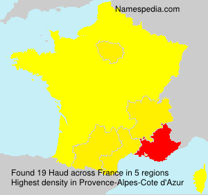 Surname Haud in France