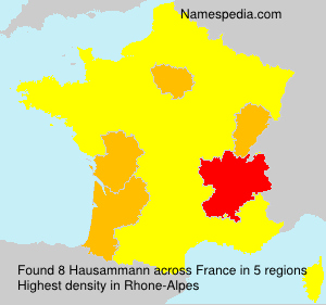 Surname Hausammann in France