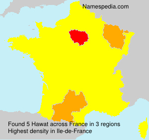 Surname Hawat in France