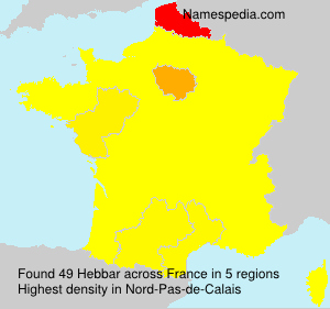 Surname Hebbar in France