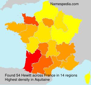 Surname Hewitt in France