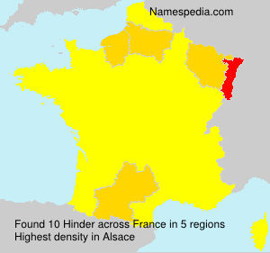 Surname Hinder in France