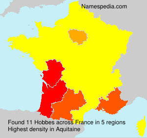 Surname Hobbes in France