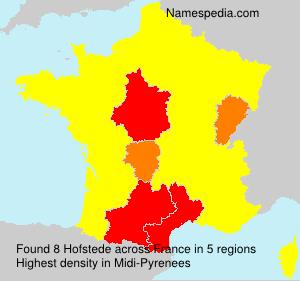 Surname Hofstede in France