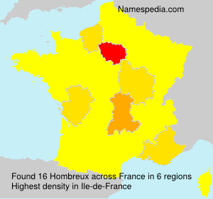 Surname Hombreux in France