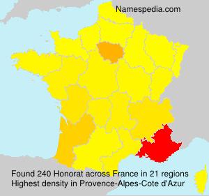 Surname Honorat in France