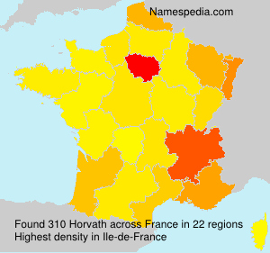 Surname Horvath in France