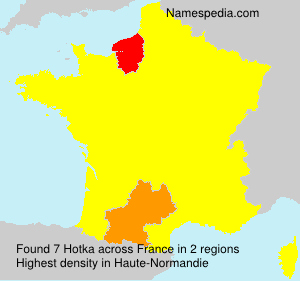 Surname Hotka in France
